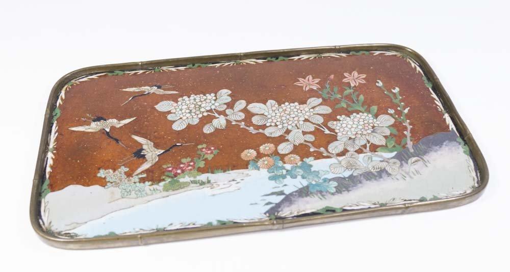 Enameled Japanese Tray