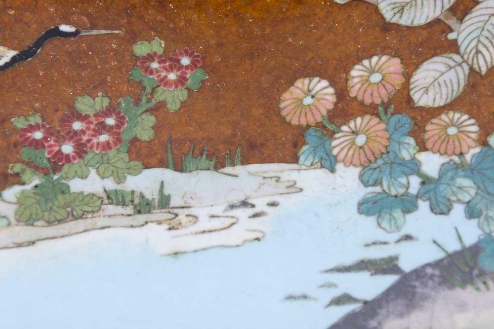 Enameled Japanese Tray - 4