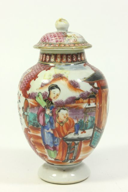 Small Cabinet-Size Chinese Covered Vase on Stand - 2