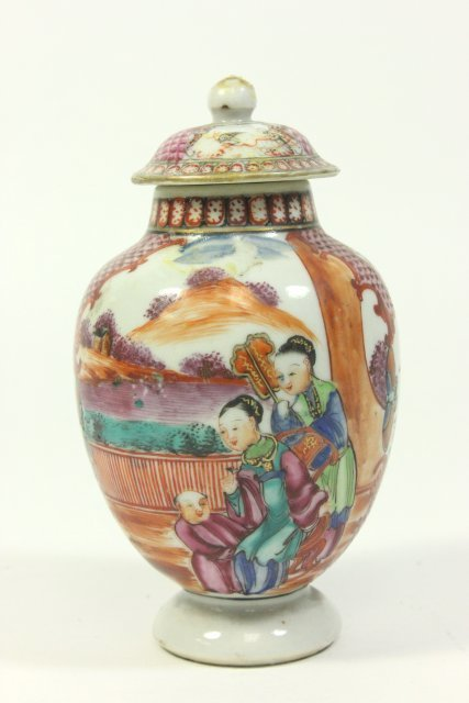 Small Cabinet-Size Chinese Covered Vase on Stand - 4