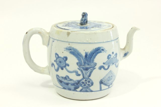 Ming Chinese Blue & White Teapot
