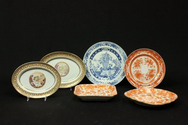 6 Chinese & Chinese Export Porcelain Dishes