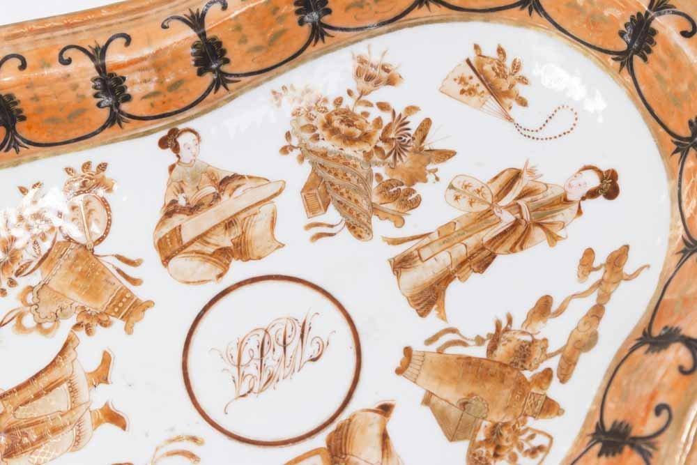 Chinese Export Gilt Iron Ground Porcelain Set - 2