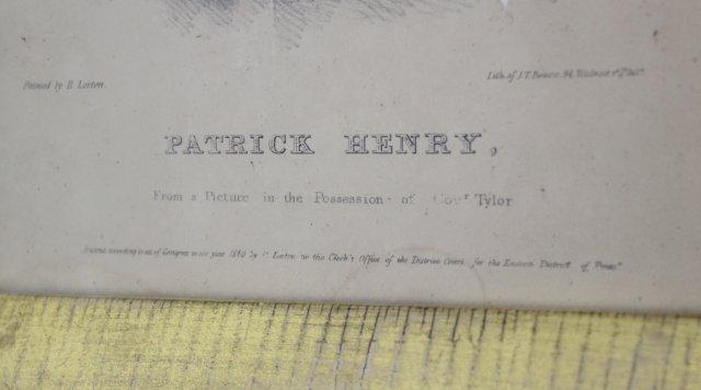 J.T. Bowen, Patrick Henry & General Harrison - 5