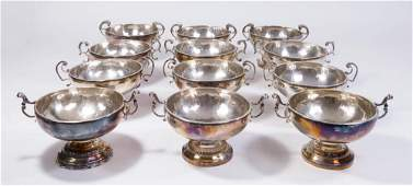 Matched Set 12 Continental Sterling Silver Bowls