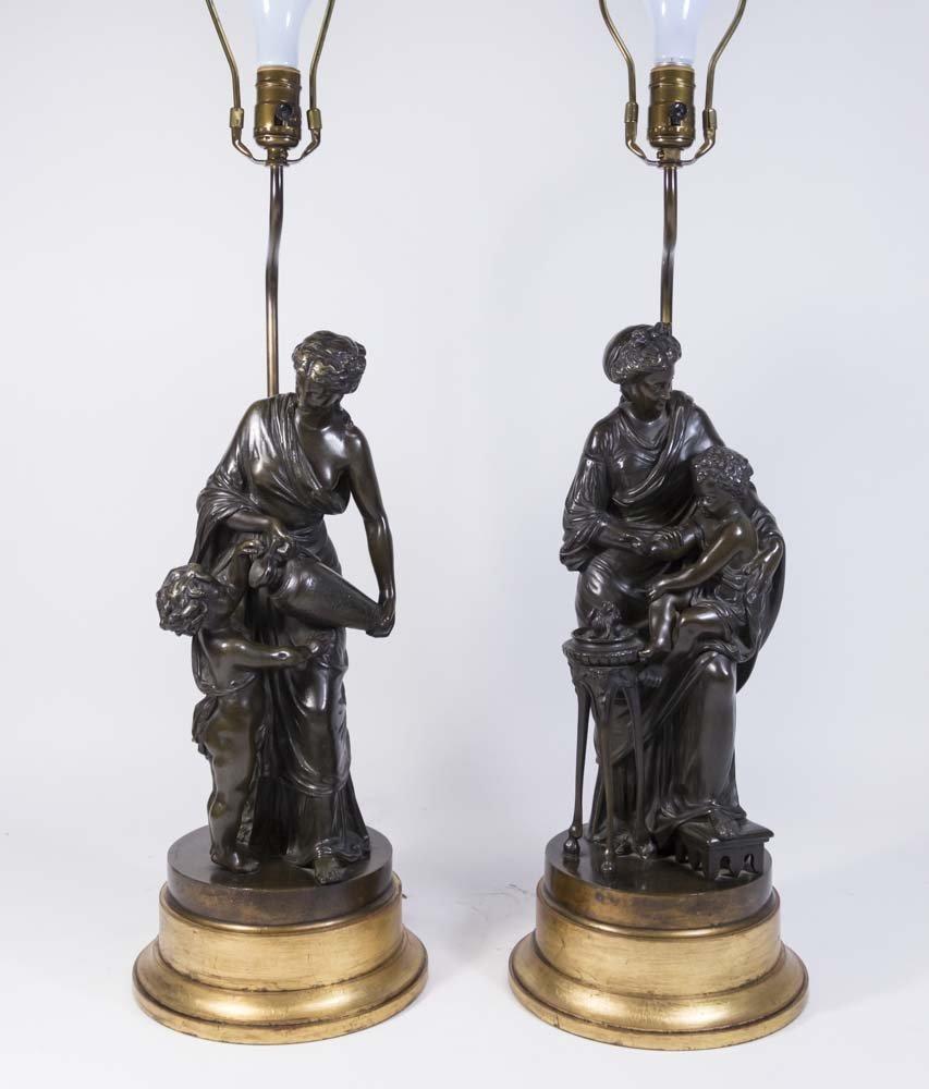 Pair 19th Century French Bronze Figures