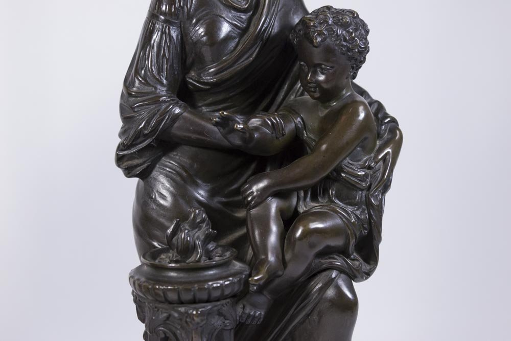 Pair 19th Century French Bronze Figures - 5