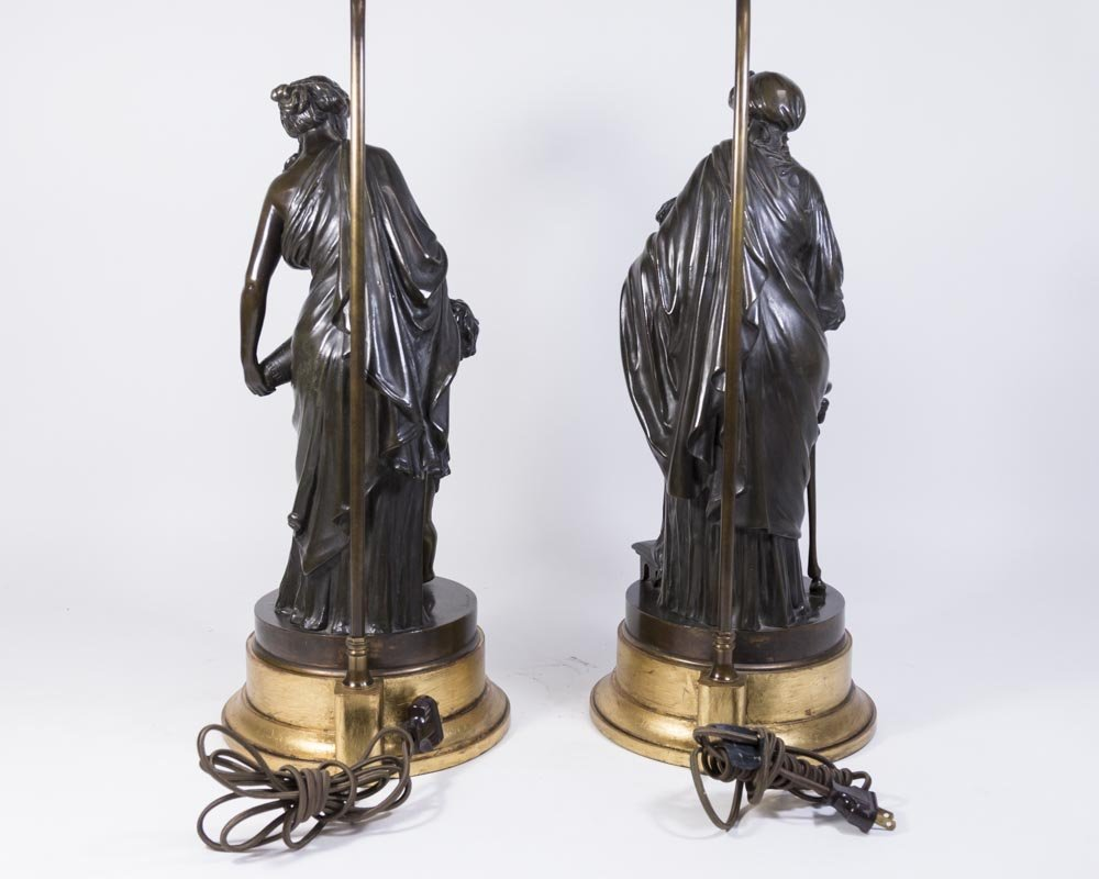 Pair 19th Century French Bronze Figures - 7