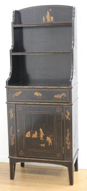 George III Style Black Japanned Bookcase