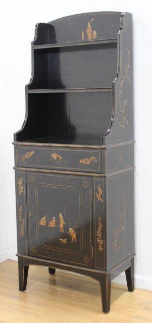 George III Style Black Japanned Bookcase - 2
