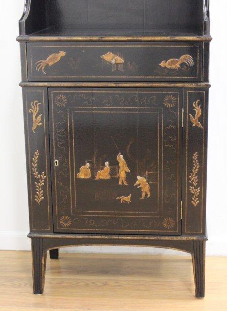 George III Style Black Japanned Bookcase - 3