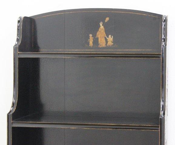 George III Style Black Japanned Bookcase - 4