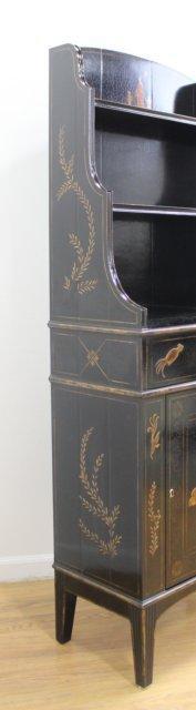 George III Style Black Japanned Bookcase - 5