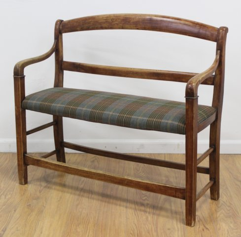 French Provincial Cherry Hall Bench