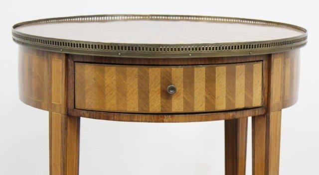 Louis XVI Style Inlaid Mahogany Gueridon - 3