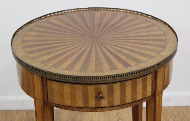 Louis XVI Style Inlaid Mahogany Gueridon - 4