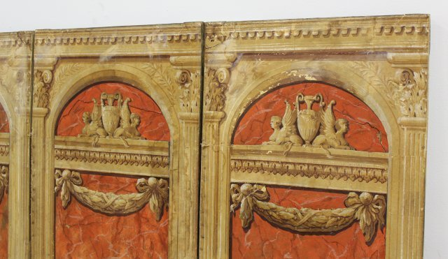 Continental Neoclassic Style 4-Panel Screen - 2