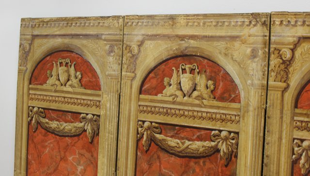 Continental Neoclassic Style 4-Panel Screen - 3