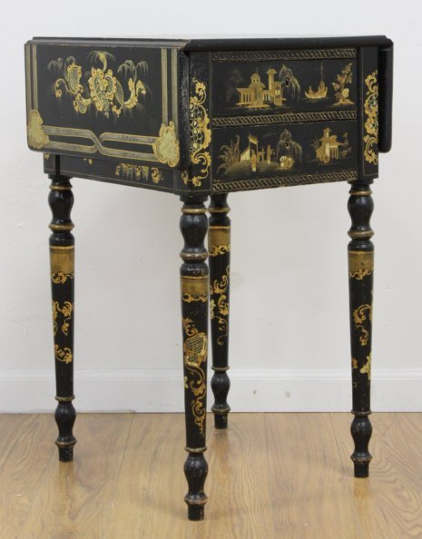 Victorian Chinoiserie Decorated Work Table