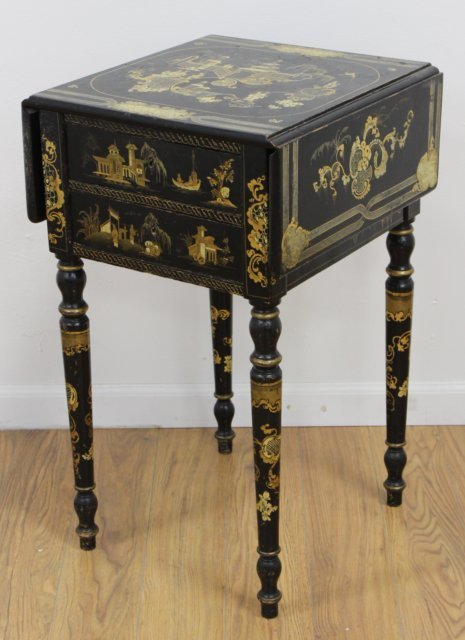 Victorian Chinoiserie Decorated Work Table - 2
