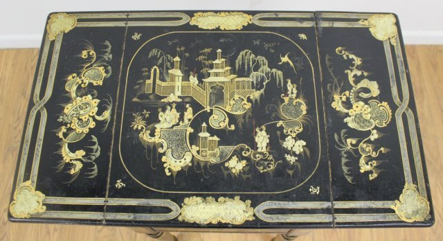 Victorian Chinoiserie Decorated Work Table - 4