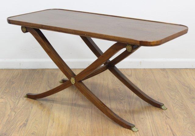 Regency Style Brass Mounted Mahogany Coffee Table