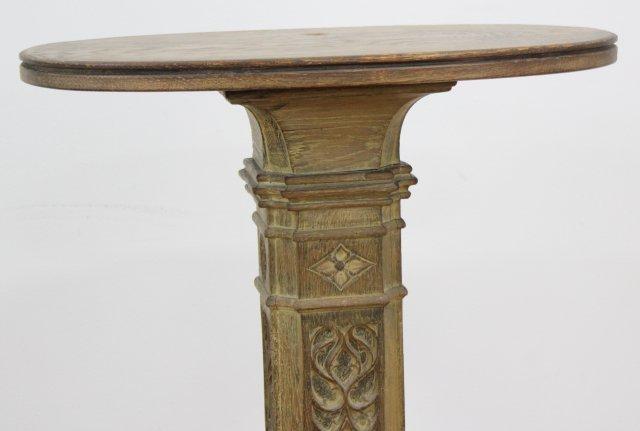 Gothic Style Carved Oak Pedestal - 2
