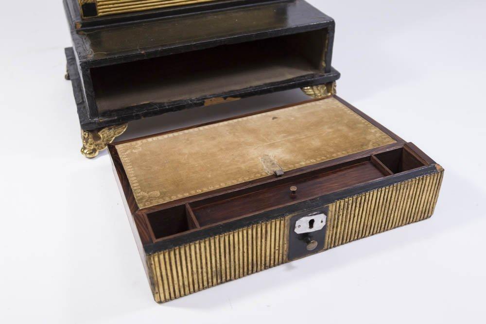 Pair Regency Miniature Bookcase/Lap Desk - 3