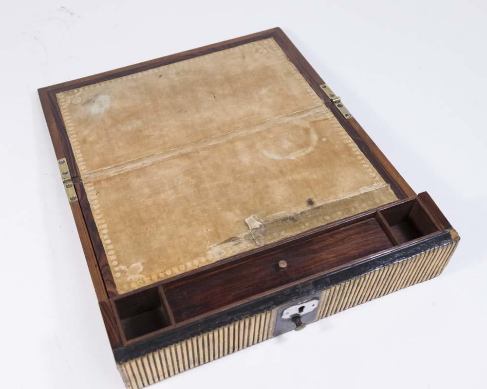 Pair Regency Miniature Bookcase/Lap Desk - 4