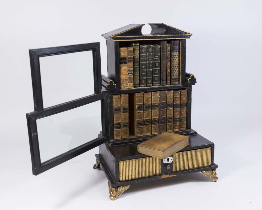 Pair Regency Miniature Bookcase/Lap Desk - 5