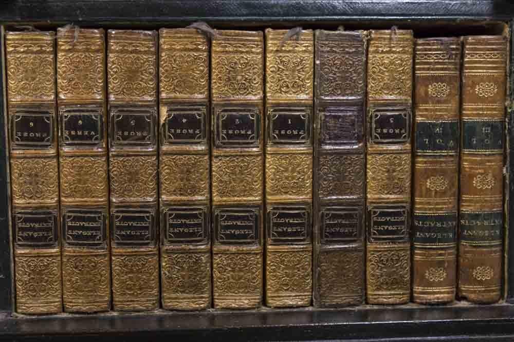 Pair Regency Miniature Bookcase/Lap Desk - 7