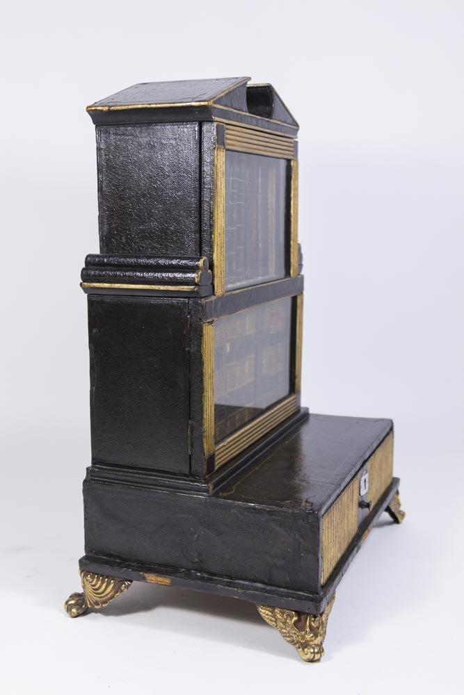 Pair Regency Miniature Bookcase/Lap Desk - 8