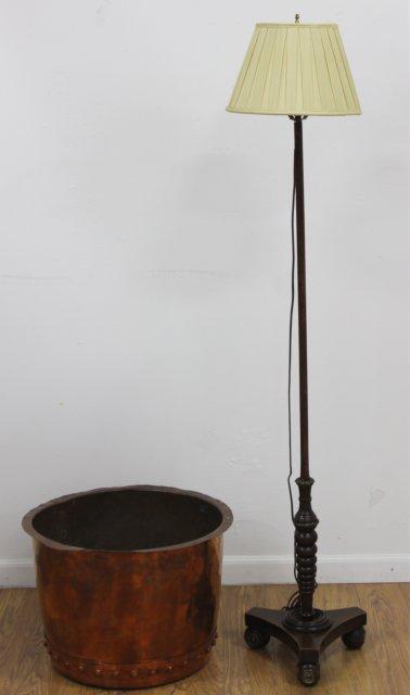 Regency Pole Lamp & Copper Kettle