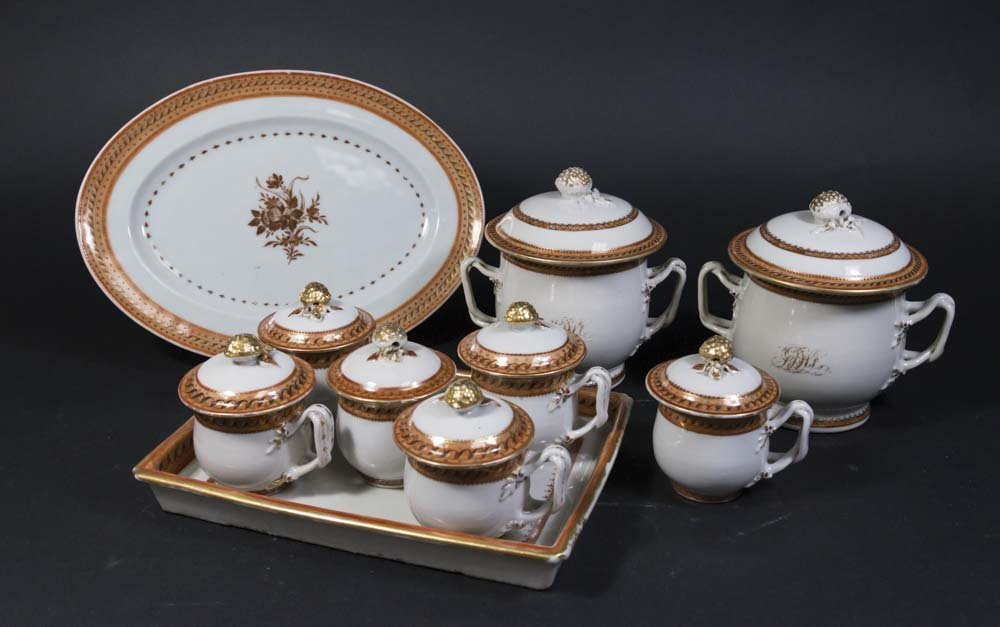 Victorian Parcel Gilt Chocolate Set