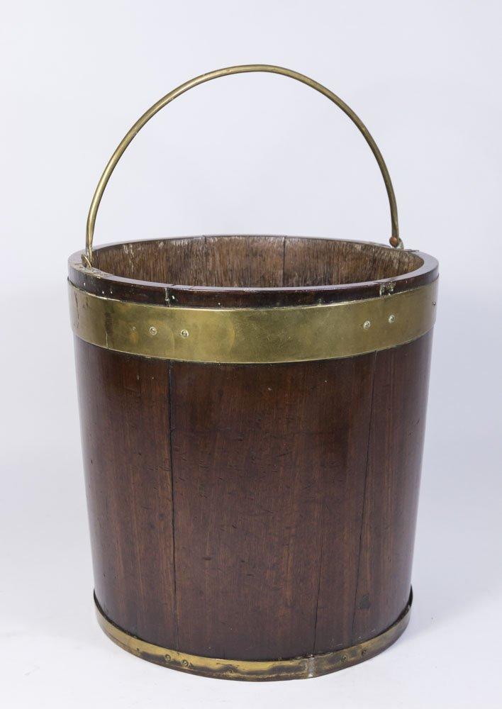 George III Brass Bound Mahogany Bucket