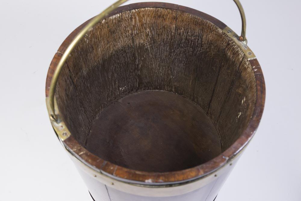 George III Brass Bound Mahogany Bucket - 2