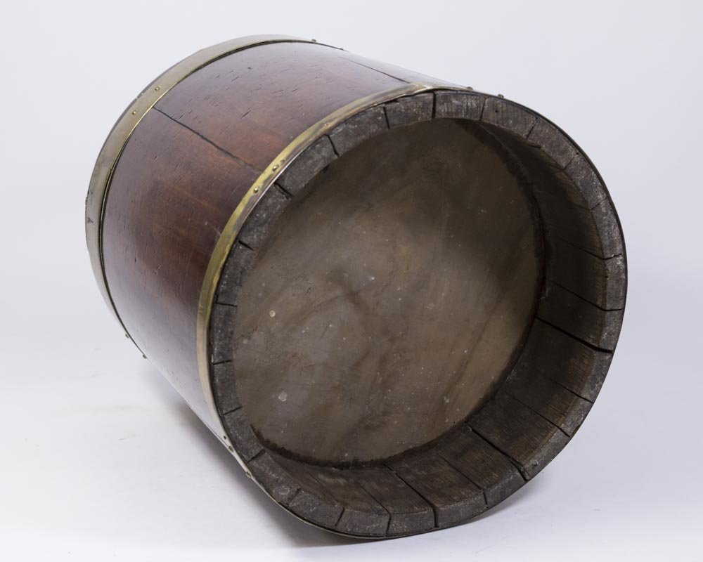 George III Brass Bound Mahogany Bucket - 3
