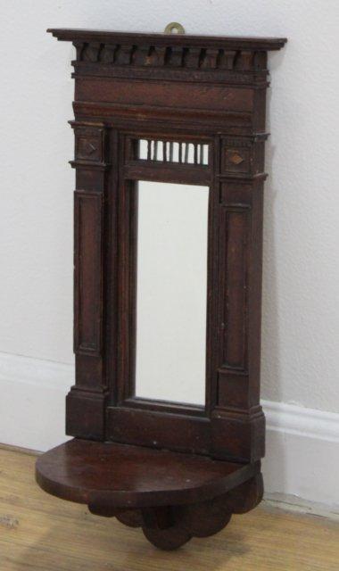 Pair Continental Neoclassic Style Walnut Mirrors - 2