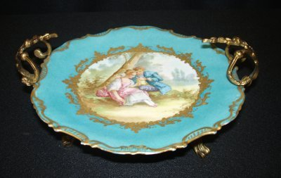 50: 19TH C. BRONZE MOUNTED SEVRES CENTERPIECE.