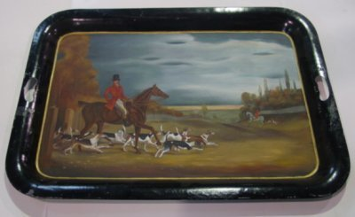 437: ENGLISH HANDPAINTED TOLE TRAY