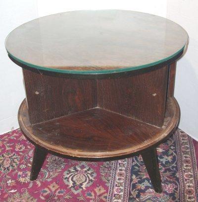 618: ROSEWOOD REVOLVING DRUM TABLE