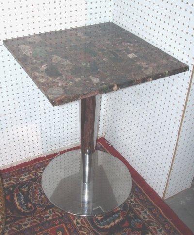 626: PAIR CHROME & MARBLE TABLES