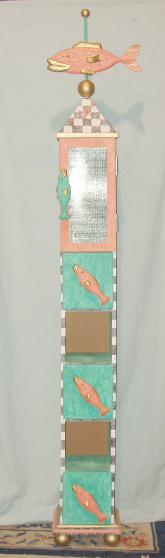 630: MODERN FOLK ART CABINET