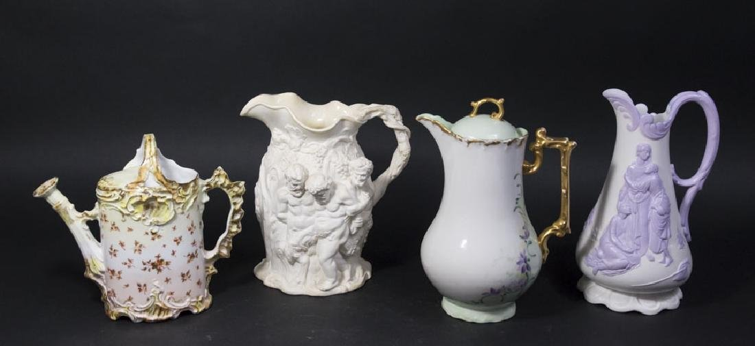 Lot 4 Porcelain Pitchers