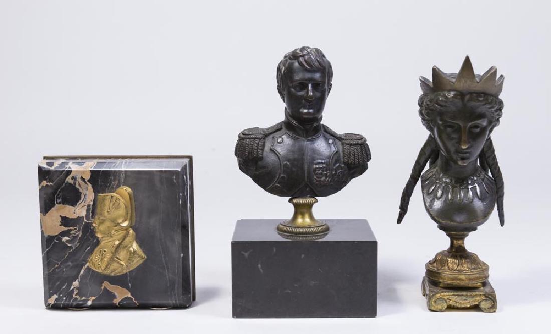 3 Bronze Cabinet Pieces