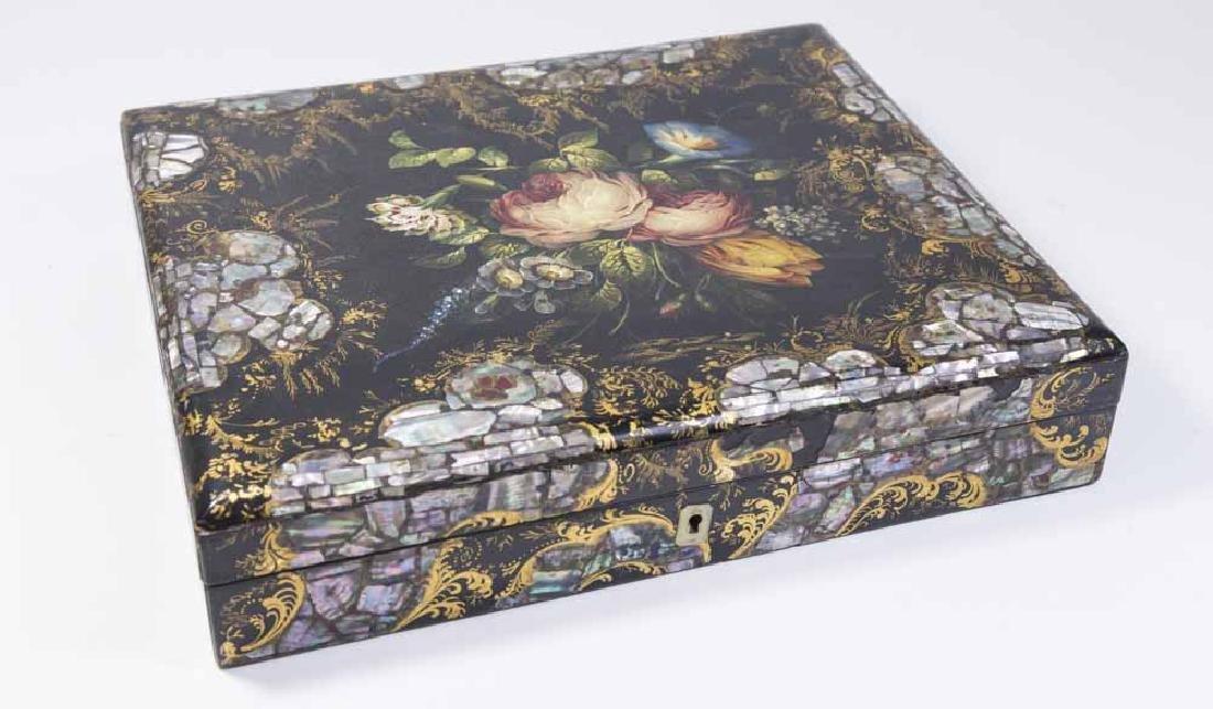 Victorian Papier Maché Box