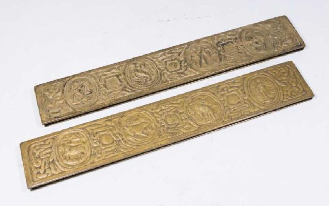 :Pair Tiffany Studios Bronze Blotters