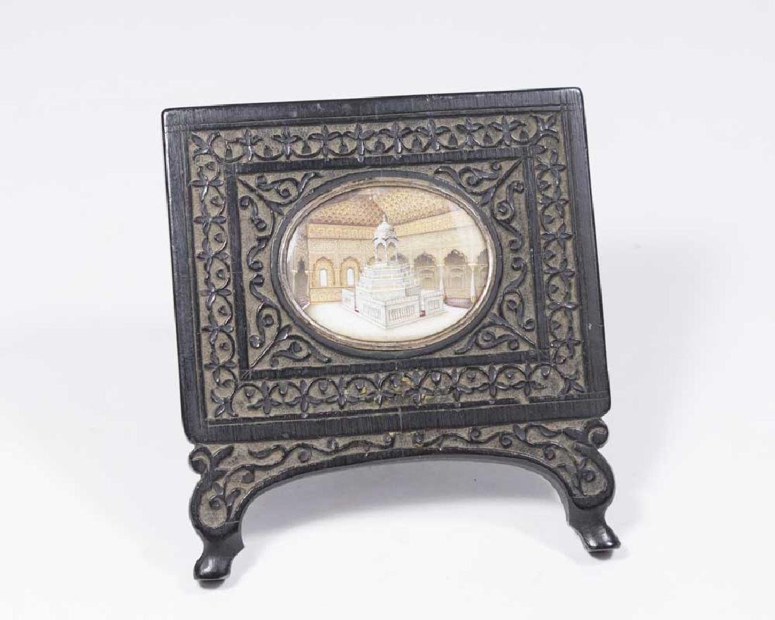 Gutta Percha Frame with Handpainted Cameo