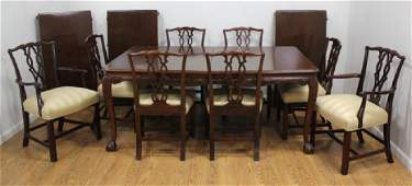 Solid Mahogany Dining Room Table with 8 Chairs