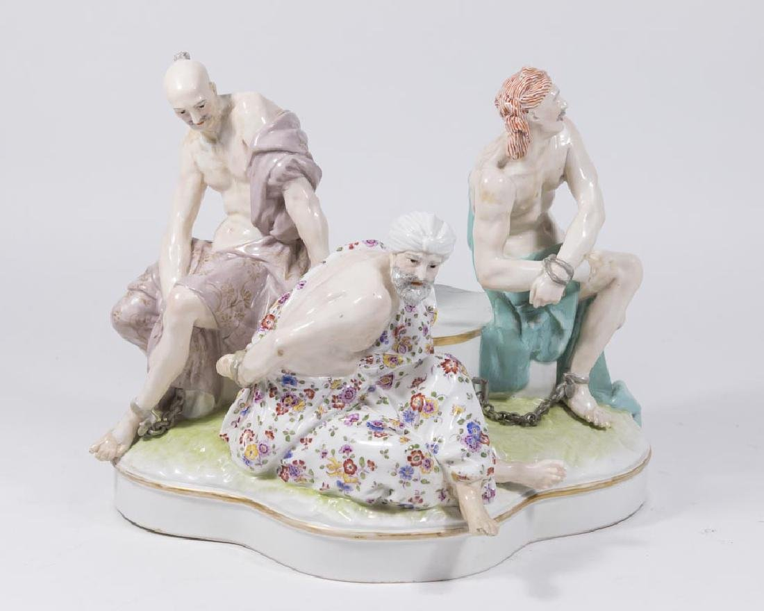 Old Berlin KPM Porcelain Grouping, Slave Market